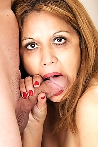 Busty mature Latina Marissa Vazquez riding big cock.