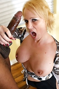 Busty cougar Sunny Day takes that big black cock hard.