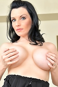 Busty wife Stacy Ray spreading her mature pussy.