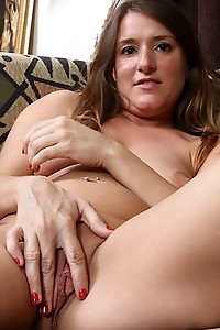 Mature amateur Chase Cunningham spreads horny pussy.
